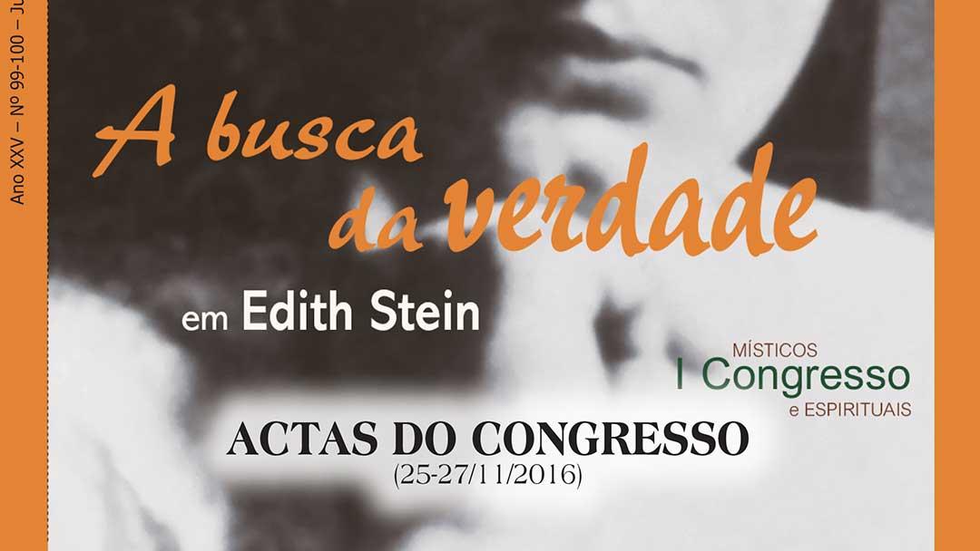 Actas do congresso: A busca da verdade em Edith Stein